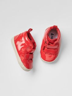 Glossy red hi- tops for Baby Flex - from Gap