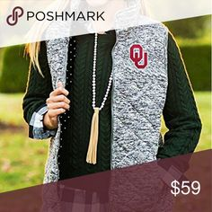 OU Vest 🏈60% Cotton and 40%,Poly 🏈 Available in S, M, L, and XL 🏈 Bundle for extra discounts and private offers!    Suggested User / 175+ Items Sold / Posh Party Host Jackets & Coats Vests