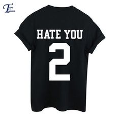 Aliexpress.com : Buy Novelty High Street Tees 2016 New Arrivals High Fashion Tops Black Short Sleeve Round Neck Letters 2 Print T Shirt from Reliable t-shirt original suppliers on DIDK Official Store