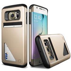 Galaxy S6 EDGE Handyhülle von Lific mit [Kartenfach] OPTIMALE Galaxy S6 EDGE Schutzhülle Case Cover Etui Dual Layer Technologie [DEUTSCHE MARKE] Champagner Gold 18,90€