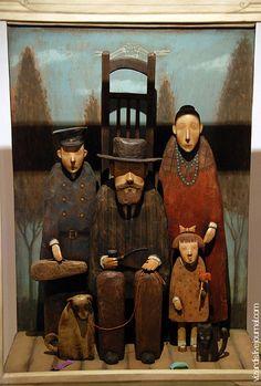 family sculpture. Wonderful. Looks like Russian emigrating...