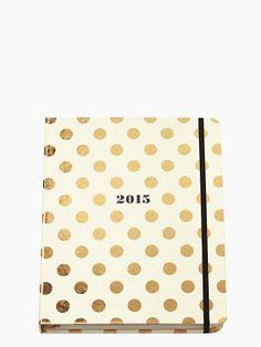 Kate Spade New York Gold Dots Large 17 Month Agenda / Planner - New arrivals Folder Organization, College Organization, Planner Organization, Organizing Life, Organising, Filofax, Planner Stickers, Lilly Pulitzer, Digital Bullet Journal