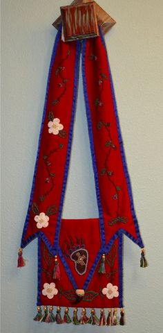Bear Clan/ Wild Potato Clan Cherokee Bandolier made by Cherokee Nation Artist -Pamm Aural Martin. All rights reserved. 2013
