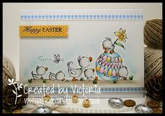 Vixx Handmade Cards: LILI OF THE VALLEY ~ EASTER SWEETIES....