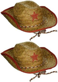 Hats 15630  Childs Straw Cowboy Hat With Plastic Star (6 Pack) - Bulk -   BUY IT NOW ONLY   31.1 on eBay! 4fbc1822d153