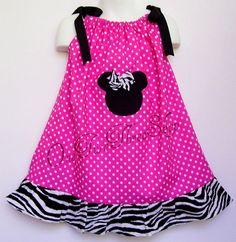 Custom Boutique Clothing Minnie Mouse PIllowcase  Dress by amacim, $29.99