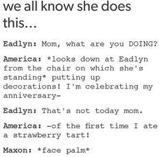 America and the strawberry tart's anniversary