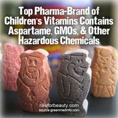 Top Children's Vitamin Brand Contains Aspartame, GMOs and Other Hazardous Ingredients #GMOs