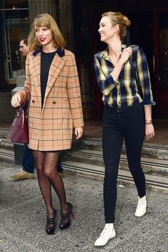 October 12 2014 Out and about in New York with Karlie Kloss.