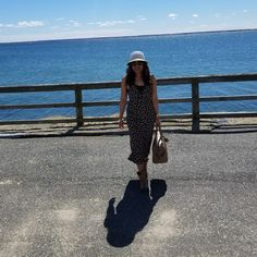 Second day outfit for our 13th years anniversary celebration at Provincetown. Dress from H&M, boots I got from New Mexico, hat from Nordstrom with my prada bag and prada shades