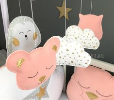 Bear for Mobile Baby Animals Baby Bedroom, Nursery Room, Hello Kitty, Baby Shower, Decoration, Etsy, Baby Pets, Bebe, Babyshower