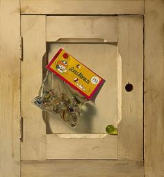Robert E. Zappalorti, Only Fifteen Cents, 2009, oil on board, 12 1/2 X 11 1/2 inches