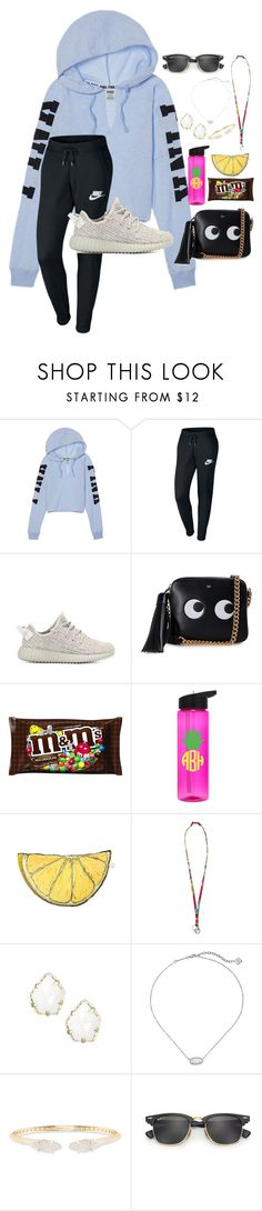 """""""~pm me~"""" by taybug2147 ❤ liked on Polyvore featuring NIKE, adidas Originals, Anya Hindmarch, Silken Favours, Vera Bradley, Kendra Scott and Ray-Ban"""