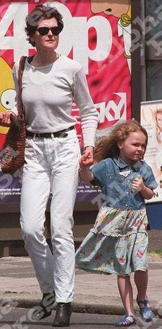 Lady Marina Ogilvy and daughter Zenouska Mowatt 1996. Marina is the daughter of Princess Alexandra of Kent