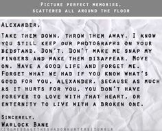 Malec letter - AHHHHHH!!!!! WHY WOULD YOU WRITE THIS!!????? I'm going to go die in a corner now.