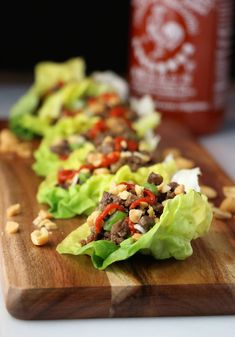 An awesome Super Bowl party begins with these Beef and Mushroom Thai Lettuce Cups! Lettuce Cups, Duck Sauce, Mushroom And Onions, Hoisin Sauce, Rice Vinegar, Ground Beef Recipes, Stuffed Mushrooms, Easy Meals, Veggies