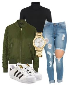 """Untitled #162"" by kingrabia on Polyvore featuring New Look, Topshop, adidas Originals and Tommy Hilfiger"