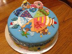 Kirby epic yarn birthday cake for a six year old boy