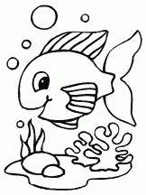 Coloriage Poisson sur Hugolescargot.com