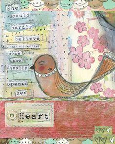 WHEN SHE FINALLY OPENED HER HEART II - Print