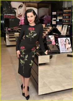 Dita Von Teese Can Make Anything Look Glamorous : Photo #3529568. Dita Von Teese shows off her new M.A.C. lipstick at a launch party on Friday evening (December 11) at M.A.C. North Beverly in Beverly Hills, Calif. The 43-year-old…