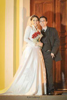 Modelo modesto de noiva