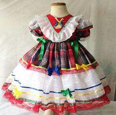 Vestido infantil para festa junina