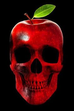 Apple a day keeps Doctor away. Once someone sent me the message that massaged my head. Picsart, Cute Skeleton, Badass Skulls, Harley Davidson Art, Skull Pictures, Skull Artwork, Silhouette Clip Art, Skull Island, Skull Wallpaper