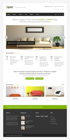 BigStart, WordPress Premium Home Furnitures Theme