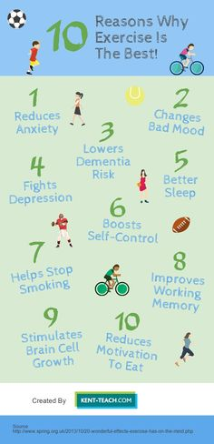 Exercise does amazing things for your body and mind, here are 10 reasons why it's the best!