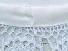 DIY crochet lace circle skirt dress