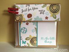 Handstamped Card Set www.fancymelissa.com #itsthelittlethings #novsotm #ctmh