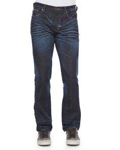 Barracuda Straight-Leg Selvedge Jeans, 6M Dark Blue, Size: 40 - PRPS