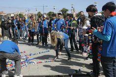Cadena solidaria de récord del colegio San Eutiquio Lasalle de Gijón