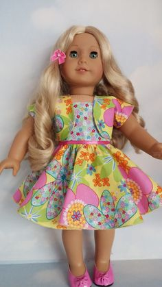 18 inch doll clothes 324 Floral Outfit Handmade by susiestitchit