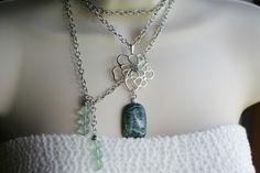 Green Kyanite Fluorite Wrap Necklace