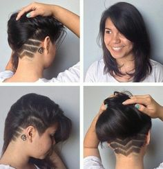 Image result for shoulder length hair with undercut