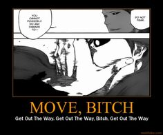 Funny Anime Motivational Posters   ... for sosuke aizen bleach anime manga kurosaki ichigo move bitch