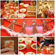 Gingerbread Decorating Party #gingerbread #party
