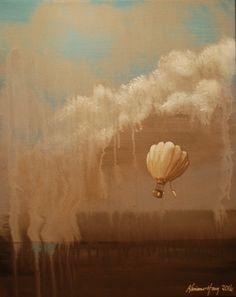Ballongferd i abstrakt landskap. Pictures
