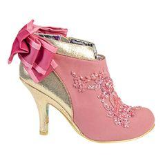 Irregular Choice Oriental Daydream Baby Beauty Bootie (Pink/Gold)