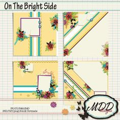 On The Bright Side by MDD Designs 12x12 templates. PSD, Tiff, png and PAGE formats