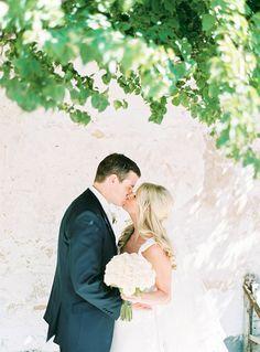 Sun Kissed Bride and Groom | Brancoprata | Stylish White and Silver Destination Wedding in Portugal