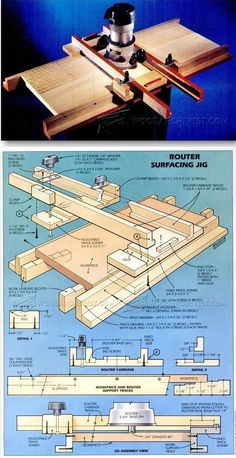 Router Surfacing Jig - Router Tips, Jigs and Fixtures | WoodArchivist.com
