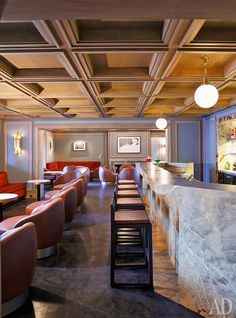 Restaurant Interiors, Restaurant Bar, Hotel Budapest, Modern Gothic, Bar Lounge, Grand Hotel, Ceiling Design, Restaurants, Public