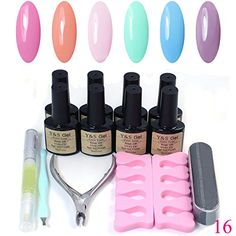 Gel Nail Polish 14 pcs Base  Top Coat Master Acrylic Kit Starter Kit 16 * Check this awesome product by going to the link at the image.
