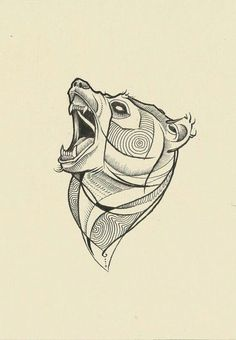 Tête d'ours pour tatouage Plus