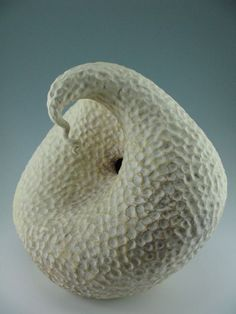 Ceramic Art with an Organic Touch Native American Pottery, Gourds, Earthenware, Ceramic Art, Swan, Pots, Miniatures, Organic, Shapes