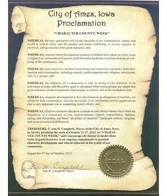 how to write a proclamation for an individual