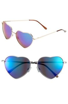BP. 'Flash' Heart Shaped Sunglasses available at #Nordstrom. on my wishlist!